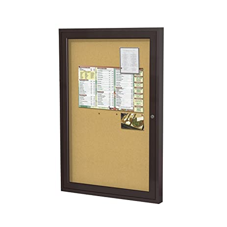 Amazoncom Ghent 36x24 1Door indoor Enclosed Bulletin Board