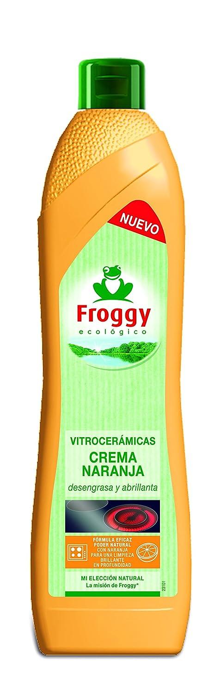 Froggy - Ecológico - Crema de limpieza para vitrocerámicas - Naranja - 500 ml: Amazon.es: Alimentación y bebidas