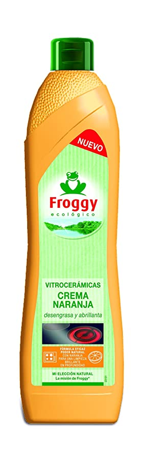 Froggy - Ecológico - Crema de limpieza para vitrocerámicas - Naranja - 500 ml
