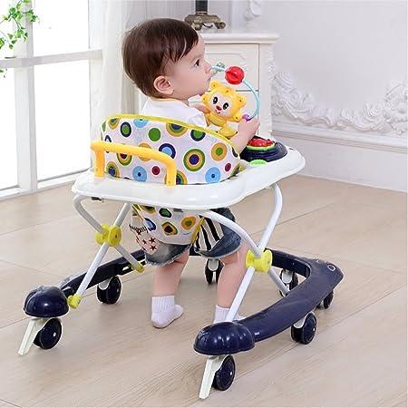 WSQ Bebés y Niños Pequeños Baby Walker 6/7-18 Meses de Carrito de ...