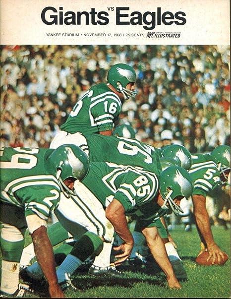 official photos 1b1e0 db38b 1968 New York Giants v Philadelphia Eagles Program 11/17 ...