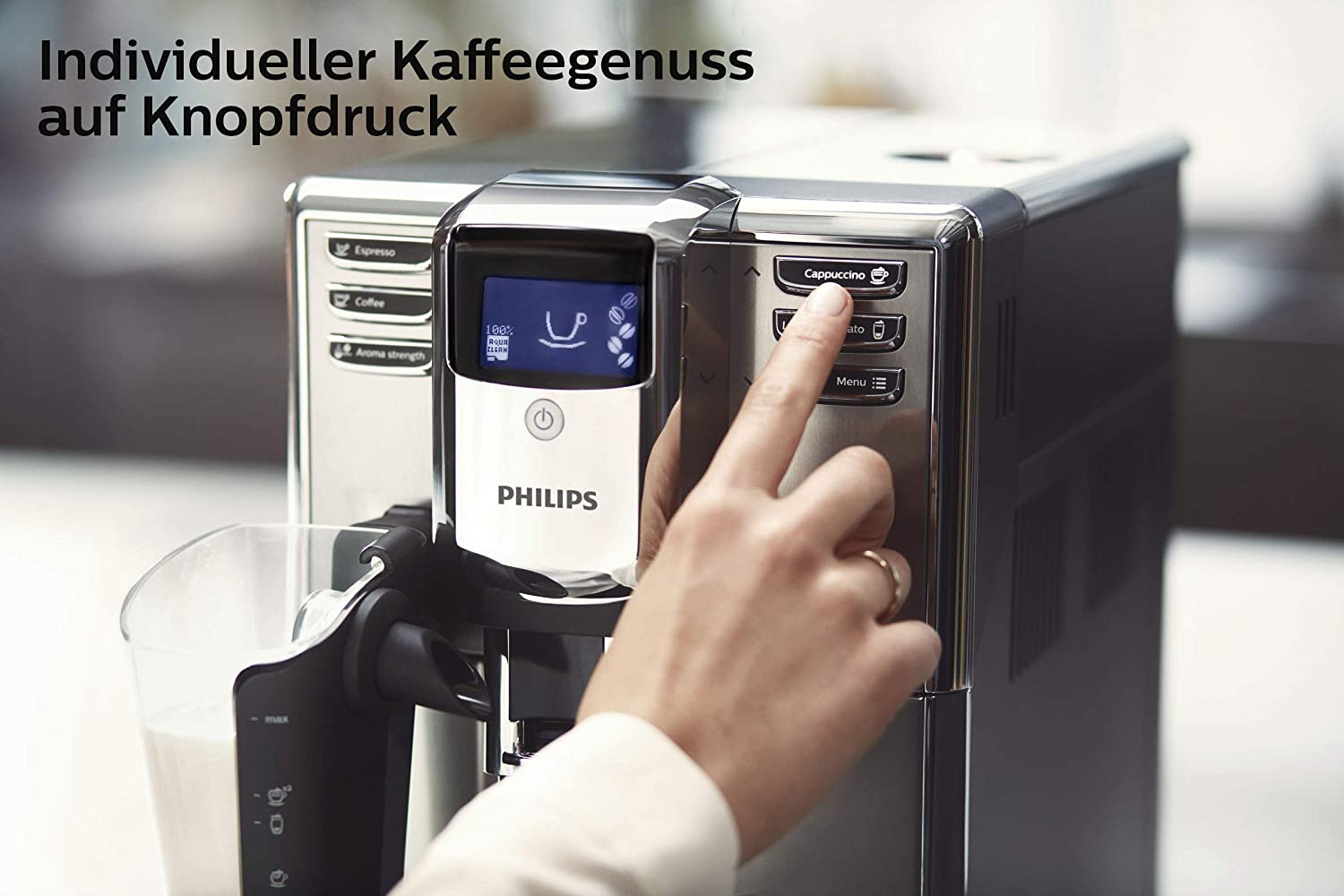Display des Philips LatteGo