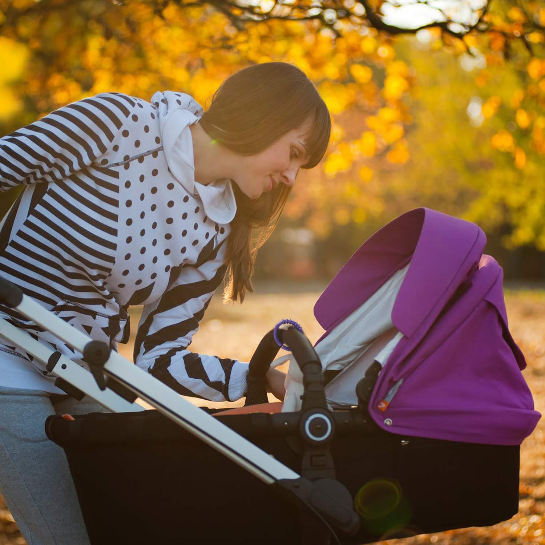 talinu cadena de cochecito de colores 24 piezas - cadena de carrito, cadena de carrito de bebés, juguete de carrito de bebé