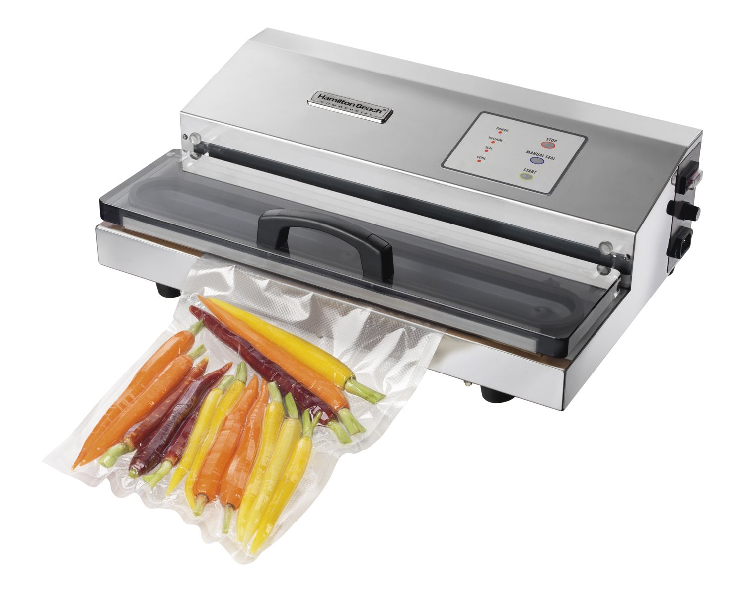 Hamilton Beach Commercial HVS400 NutriFresh Vacuum Packaging Machine Out of Chamber, Stainless Steel