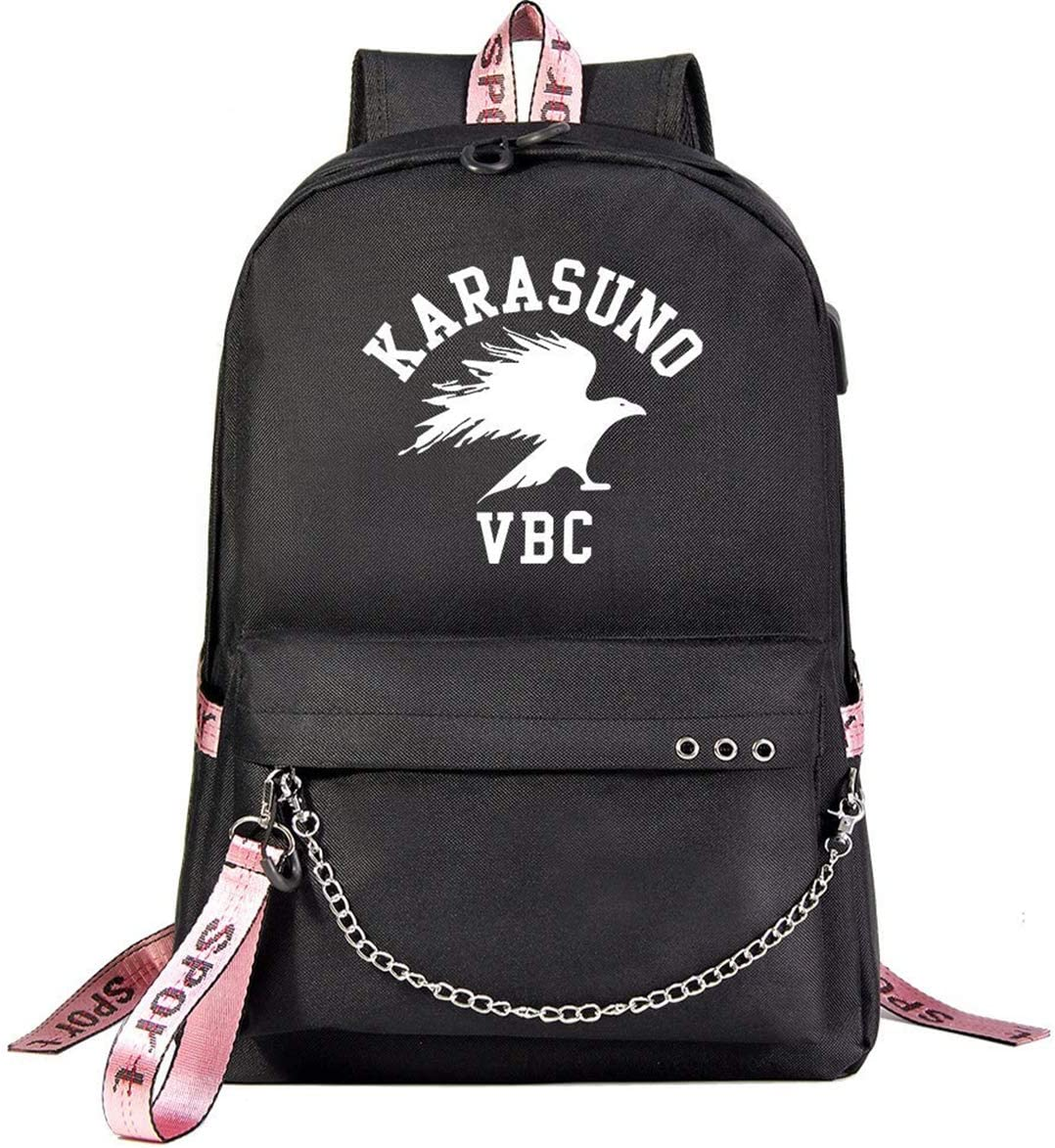 KY KEYOLET Kpop Haikyuu Backpack Karasuno Daypack Laptop School Bag Anime Fans Support Cosplay Merchandise