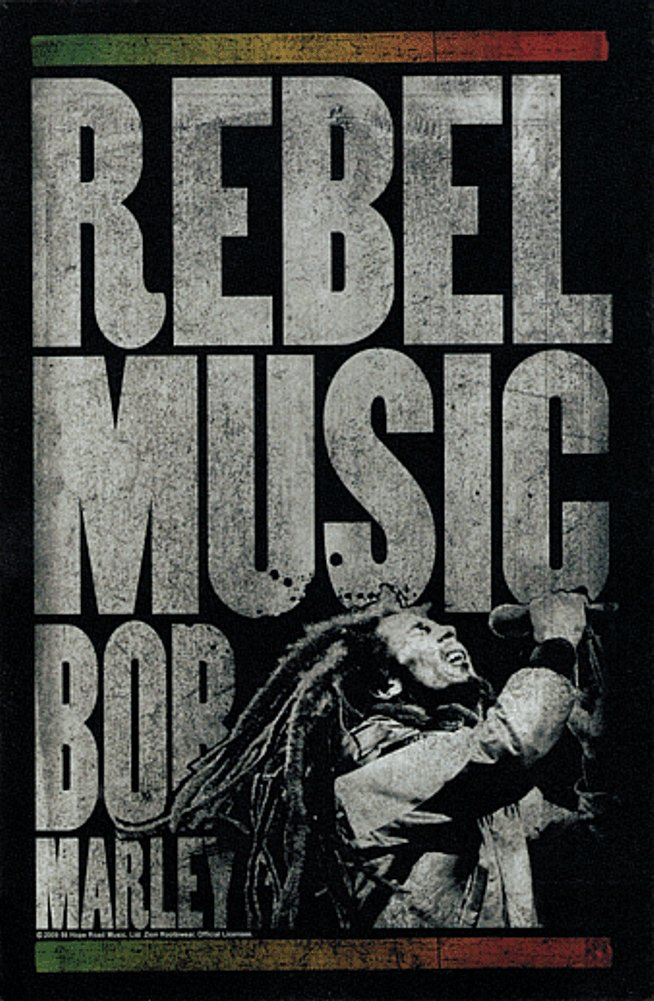 Rebel Music Sticker Decal Square Deal Recordings /& Supplies 1-CST-15772 Bob Marley