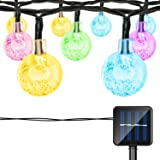LIFU Globe Solar String Lights, 20ft 30 Waterproof LED Fairy Crystal Ball Christmas Lights, Outdoor Decorative for Home, Garden, Patio, Lawn, Party and Holiday (Multi-color)
