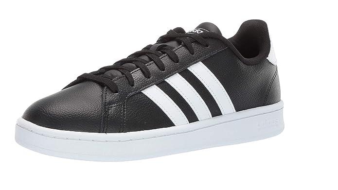 adidas Grand Court Herren Sneakers (Tennisschuhe) schwarz mit weißen Streifen