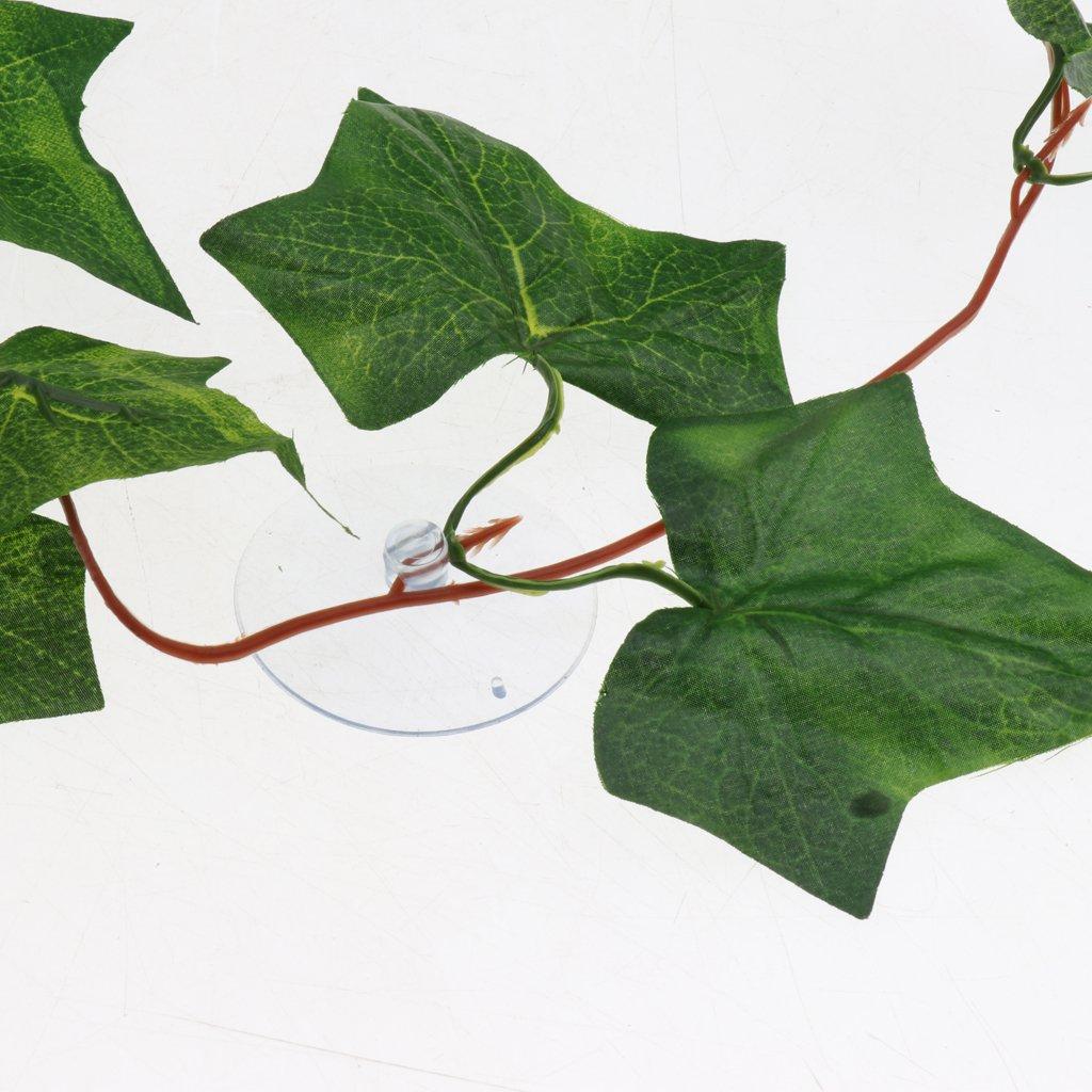 B Blesiya Artificial Ivy Sweet Potato Colgante Falso Plantas De Vid Decoraci/ón para Reptiles Decoraci/ón del Hogar