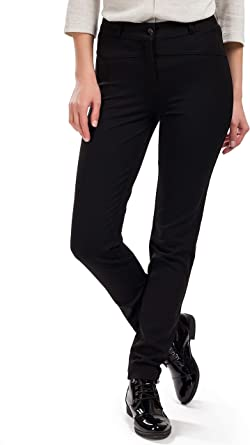 Femme Pantalones Elegantes Para Mujer Corte Moderno Que Realza La Figura Para Oficina Y Ocio Otono Primavera Negro 36 Amazon Es Ropa Y Accesorios