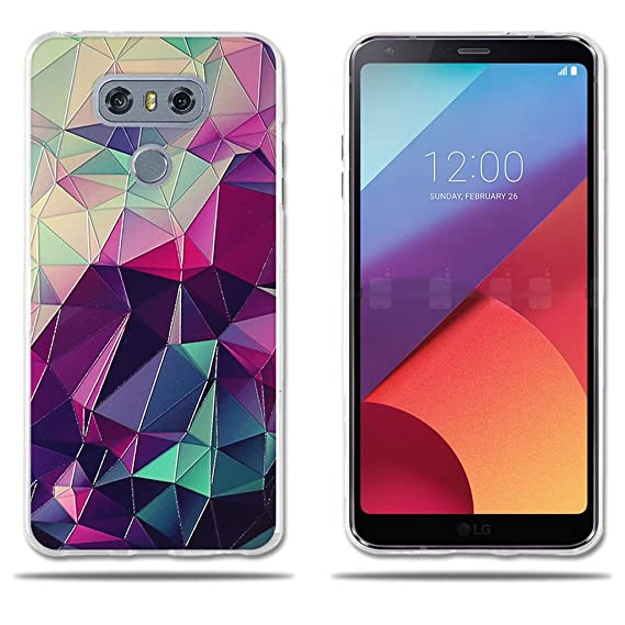 new arrival 28137 bfce4 Amazon.com: LG G6 H870 Case,3D Silicone Colorful Magic Cube Pattern ...