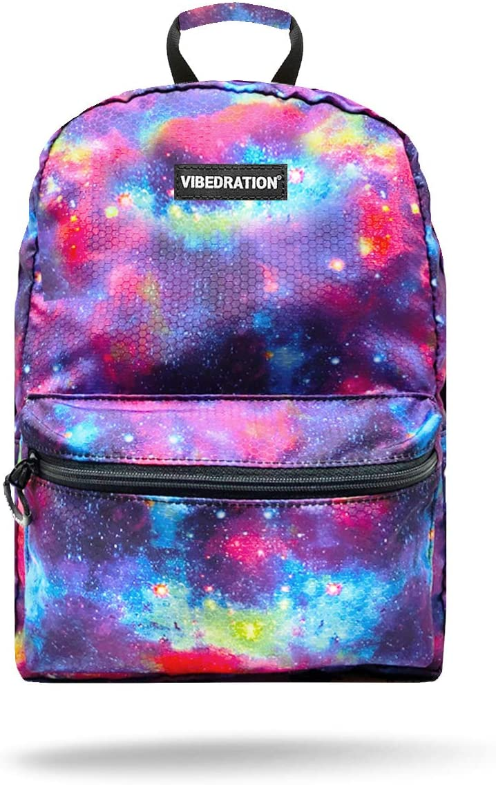 Vibedration All-Access Hydration Pack Water Backpack for Hiking, Camping, Festivals, Raves (Metallic Space)