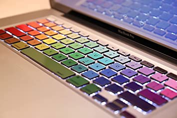 Amazoncom Crocodil Graphics Rainbow Keyboard Stickers For - Macbook air decals