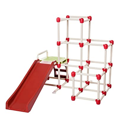 The Unsafe Child Less Outdoor Play Is >> Lil Monkey Everest Jungle Gym Toddler Climber Playground Folds Within Less Than One Minute Indoor And Outdoor Play Equipment For Kids