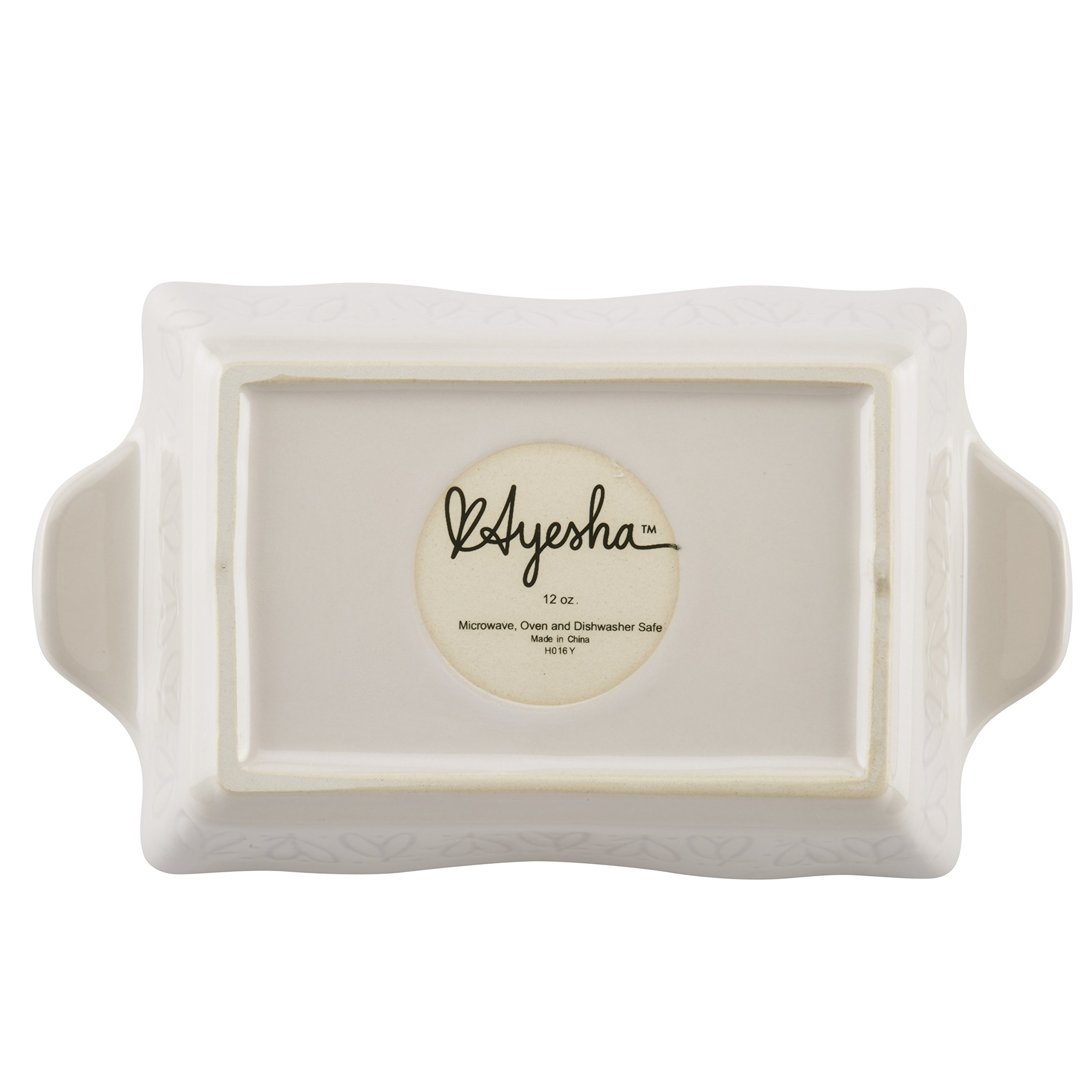 Ayesha Curry Home Collection Stoneware Au Gratin Set, 12-Ounce, Cream, 2-Piece by Ayesha Curry (Image #3)