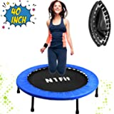 "N1Fit 40"" Mini Trampoline for Adults - Exercise Trampoline, Mini Trampolines, Personal Trampoline, Trampoline Small Indoor, Rebounding Tiny Trampoline with Springs System for Home Cardio Workouts"