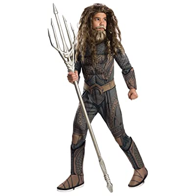 Rubie's Justice League Child's Deluxe Aquaman Costume, Small: Toys & Games