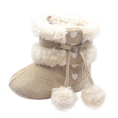 Yo Coco Infant Baby Girl's Cotton Soft Sole Anti-slip Winter Boots