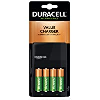 Deals on Duracell Ion Speed 1000 Battery Charger w/4 AA Batteries