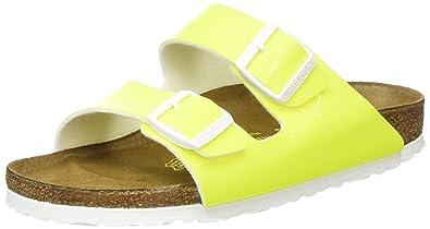 74edb82bbacb Birkenstock 57573 Arizona Neon Yellow Patent Birko-Flor Patent - Narrow -  All Sizes Brand