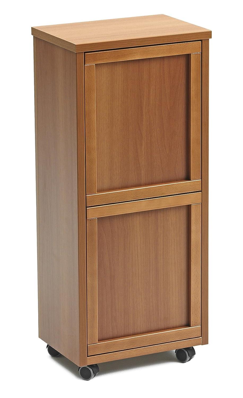 Arredamenti Italia 872 - Mueble para reciclaje de basura, madera, 2 contenedores extraíbles, color madera de cerezo