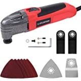 MANUSAGE 1.5Amp Multi-Purpose Oscillating Tool with 3.2°Oscillation Angle,15pcs Multi-Tool Accessories Kit for Cutting,Sandin