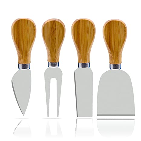 Amazon.com: 4 unidades de cuchillos de queso Freehawk con ...