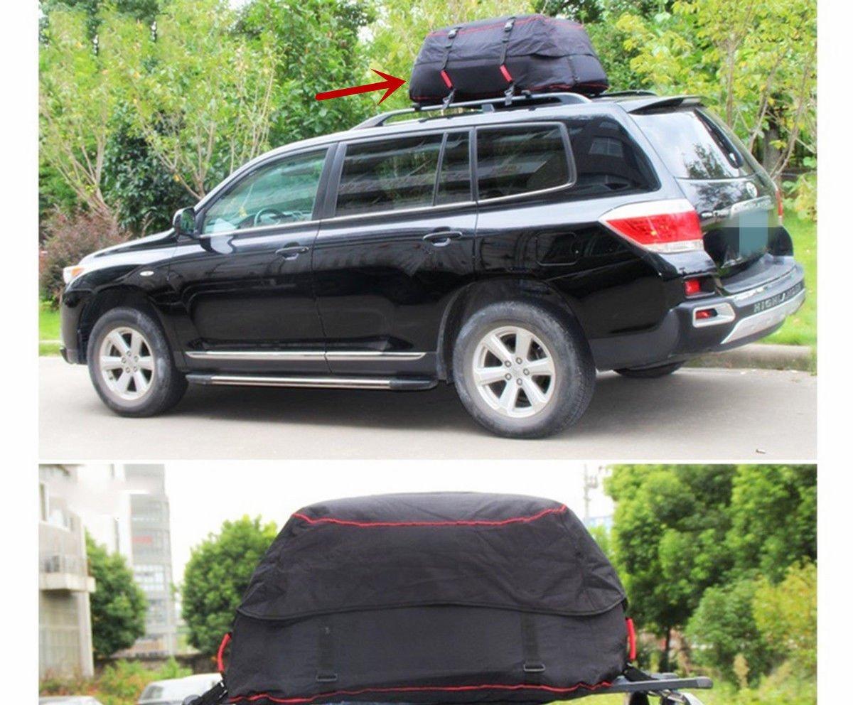 車van SUV屋根上部Cargoラック防水荷物旅行バッグキャリアラック新しい B074PJNYM8