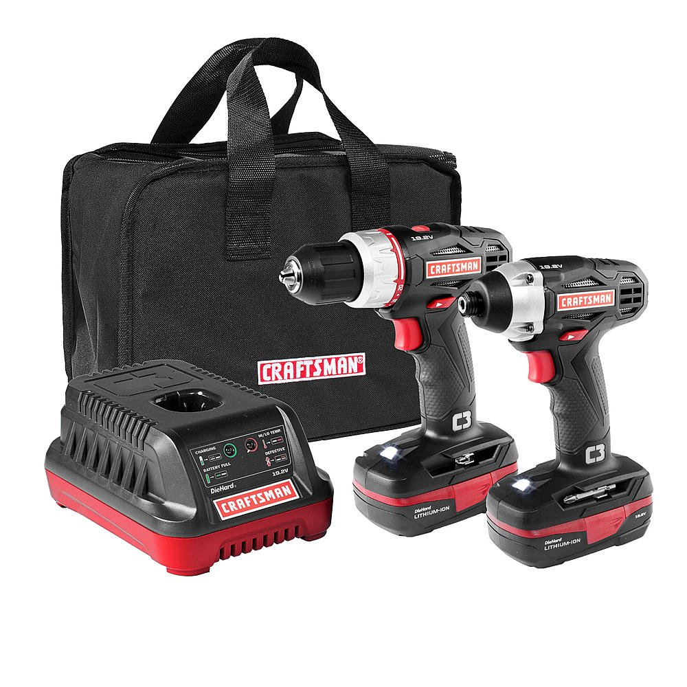 Porter-Cable PCCK604L2 20V Max Lithium Ion 2-Tool Combo Kit with PORTER-CABLE PCC771B Bluetooth Radio