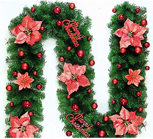 Sapin De Noel Avec Led Amazon.com: Q.AWOU Wreath Garland Christmas Wreath Rotin de Noël
