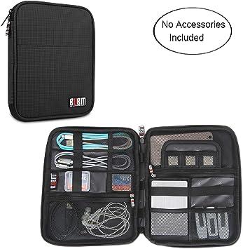 BUBM Organizador de Viaje para Accesorios Electrónicos Estuche para Cables Pendrives USB, Negro: Amazon.es: Electrónica