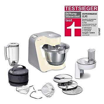 Bosch MUM5 MUM58920 CreationLine Küchenmaschine (1000 W, 3 Rührwerkzeuge  Edelstahl, spülmaschinenfest, Rührschüssel 3,9 Liter, max Teigmenge 2,7kg,  ...