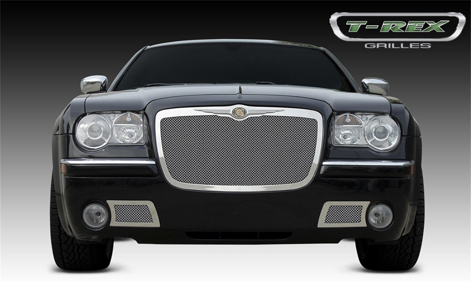TRex Grilles 54471 Upper Class Small Mesh Stainless Polished Finish Replacement Grille for Chrysler 300
