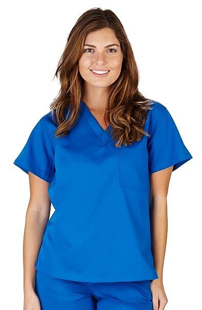 8421c73bac0 Ultra Soft Brand Scrubs - Premium Womens Junior Fit 1 Pocket V-Neck Scrub  Top