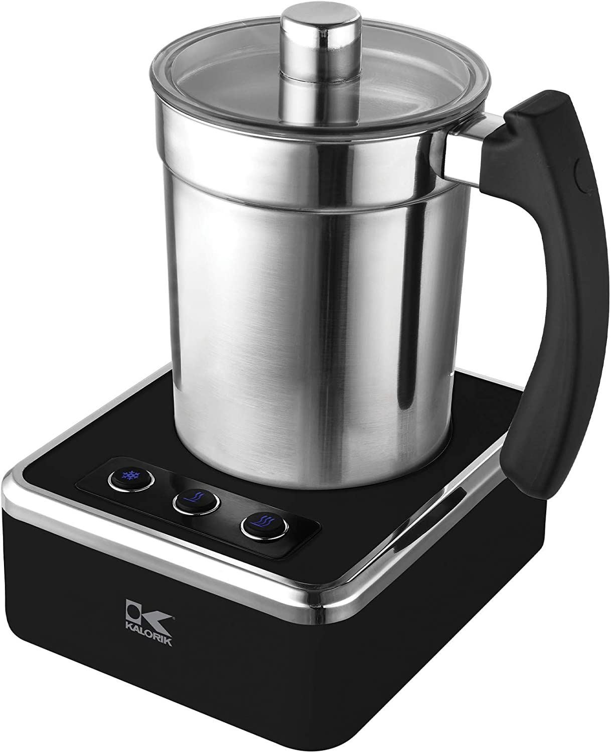 Kalorik Black and Stainless Steel Milk Frother