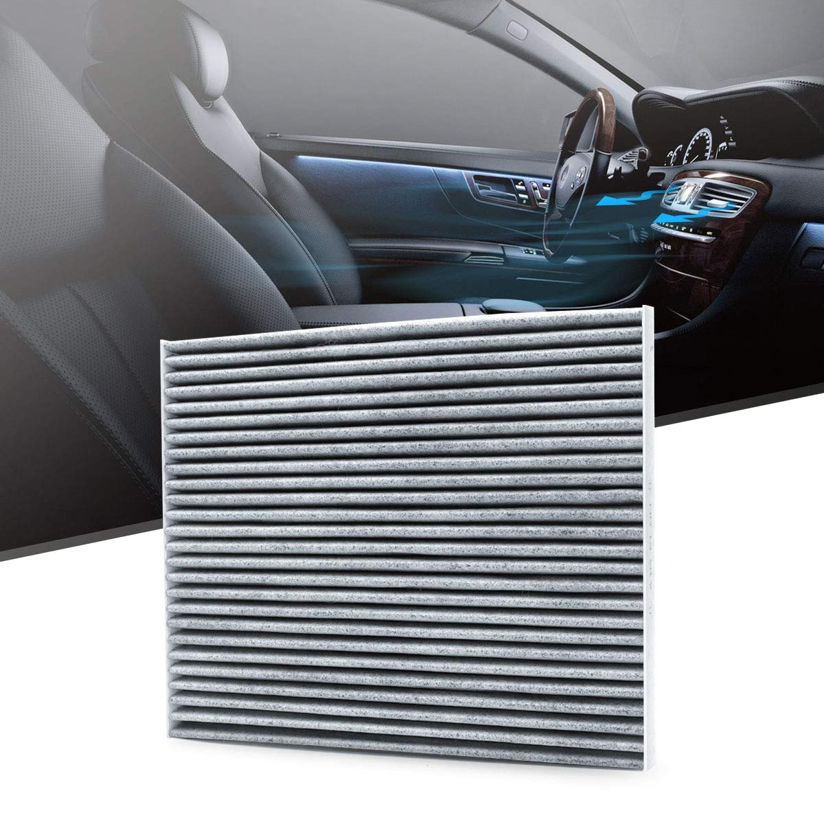 Replacement for FORD//LINCOLN DG9Z-19N619-A includes Activated Carbon DG9Z-19N619-AA DG9H-18D483-AA KAFEEK Cabin Air Filter Fits CF11775