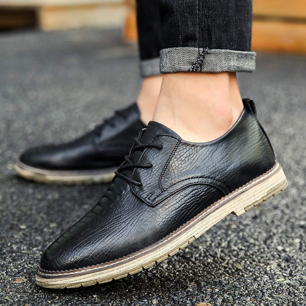 Sam Carle Mens Oxfords Modern Casual Breathable Brown Black Spring Oxford-Shoes