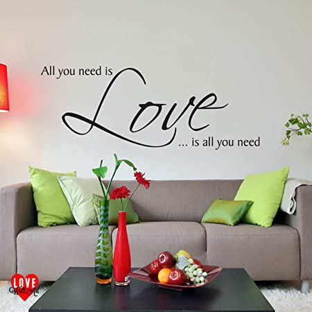 All you need is Love The Beatles wall art lyric wall sticker by ...