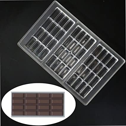 ecosway Barra de chocolate molde de policarbonato transparente PC Jelly Candy Making molde DIY moldes para