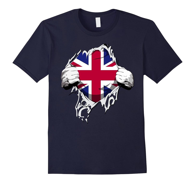 British UK Union Flag Heart T Shirt-CD