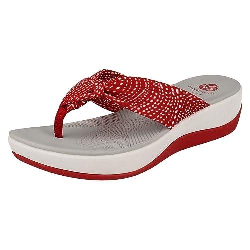 82485d310ed7 CLARKS Clarks Womens Shoe Arla Glison Red Combi  Amazon.co.uk  Shoes ...
