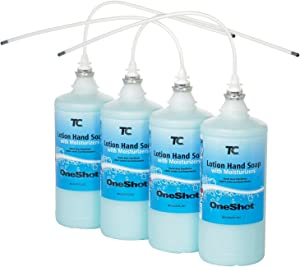 Rubbermaid FG4013111, Oneshot Liquid Hand Soap 800ml Lotion Soap with Moisturizer Refill - Lot of 4