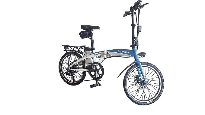 Helliot Bikes Byhell02 Bicicleta Eléctrica Plegable, Unisex Adulto, Azul/Blanco, Estándar: Amazon.es: Deportes y aire libre