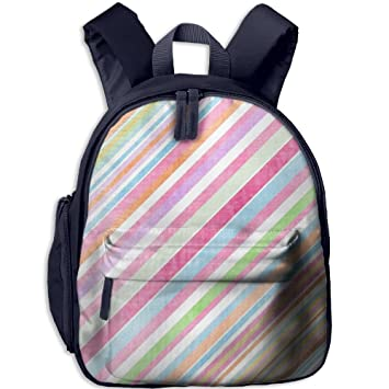 3eb39077827 Striped Design Printing Book Bag Cool Animal Kid's School Daypack Soccer  Girl Kindergarten Backpacks 12.5""