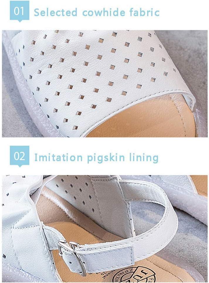 Sandalias huecas para mujer, transpirables, de verano, con puntera abierta (35-41), color albaricoque, 38, Blanco, 39 Blanco