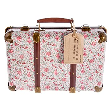 Amazon.com: Sass and Belle Vintage Floral Suitcase - Roses by RJB ...