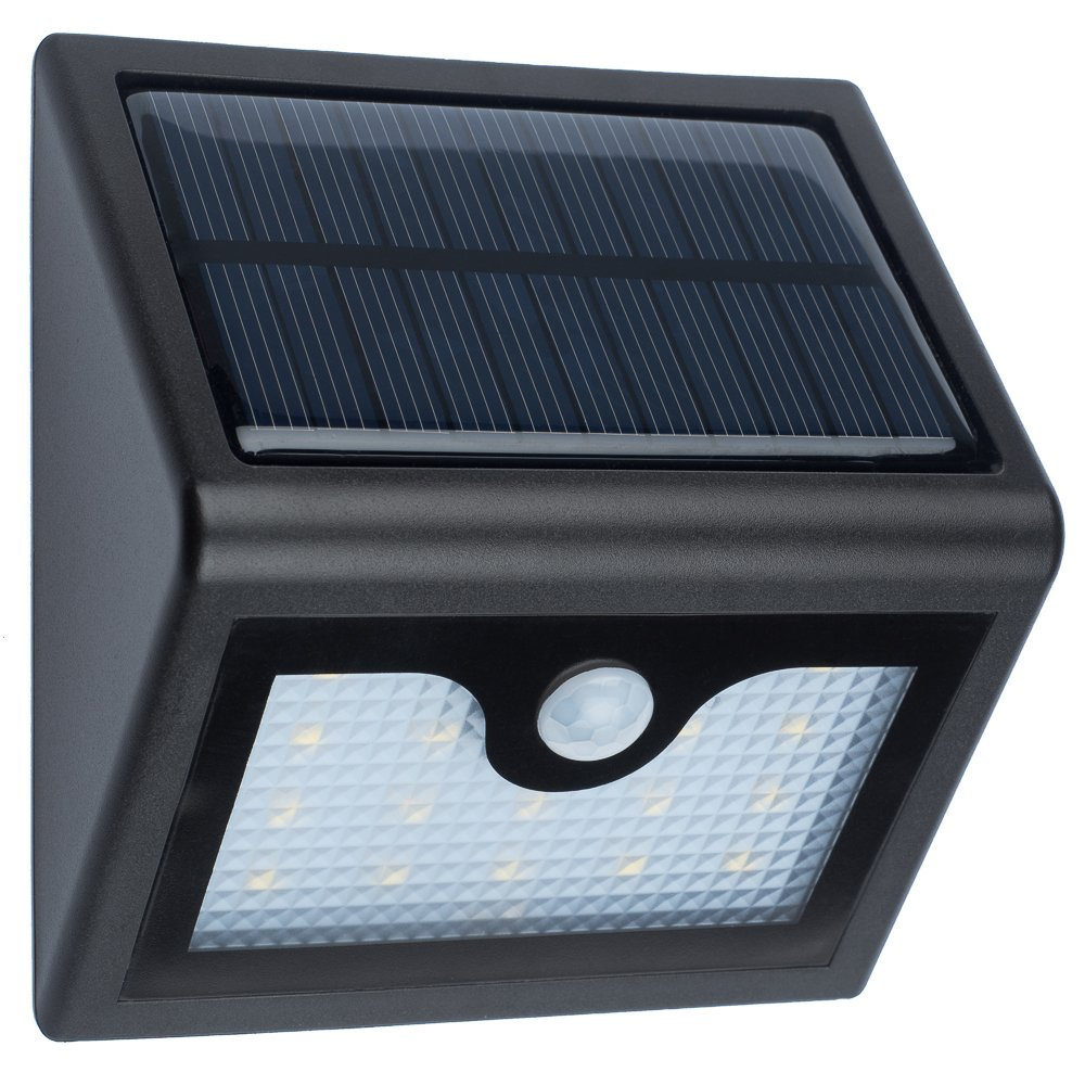 KOVEGO SOLAR Powered LED Wall Light – 400 Lumens Security Motion Sensor Solar Power Outdoor Light for Garden, Deck, Patio, Yard, Fence, Flood Lighting – Replaceable Battery, plus 1-Year Warranty