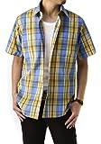 (フラグオンクルー) FLAG ON CREW 半袖シャツ メンズ サッカー生地 リラックスサイズ チェックシャツ/B8O