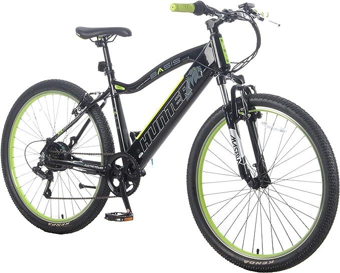 Basis Hunter Unisex Integrated Electric Mountain Bike - Black/Lime