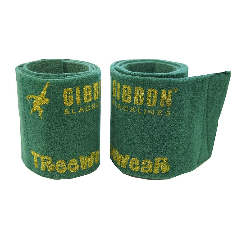 Gibbon TreeWear - Protector para árboles, 2 x 100 x 14.5 cm, color verde Gibbon Slacklines 10099